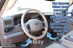 00-04 Ford Excursion Limited 7.3L Turbo Diesel -Tan Leather Steering Wheel Cover