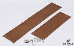 01-03 Ford F150 SuperCrew King Ranch Leather Steering Wheel Cover 2-Piece Wrap
