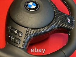 01-06 BMW E46 325 328 330 M3 Steering Wheel Lower Trim Carbon Fiber