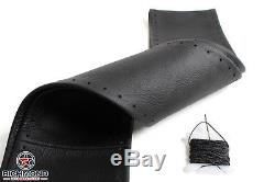 03-07 Chevy Silverado LT LS-Black Leather Steering Wheel Cover withNeedle & Thread