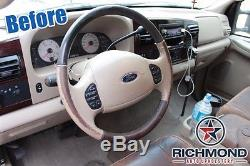 03-07 Ford F350 4x4 Diesel Lifted KING RANCH Leather Steering Wheel Cover 2Piece