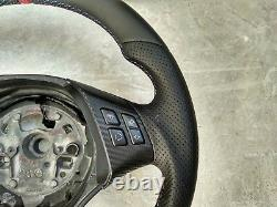 05-15 BMW 3 E90 E91 X1 E84 NEW NAPPA LEATHER ERGONOMIC INLAYS FLAT BOT THICK red