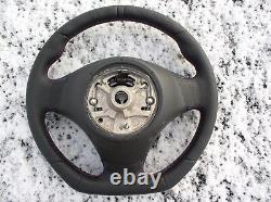 05-15 Bmw 3 E90 E91 X1 E84 Nappa Leather Ergonomic Inlays Sw Flat Bottom Carbon