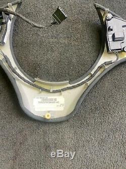 08-13 BMW E90 E92 E93 M3 Lower Steering Wheel Trim Cover Plate Alcantara