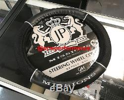 100% Authentic JUNCTION PRODUCE STEERING WHEEL COVER BLACK MESH LEATHER LARGE