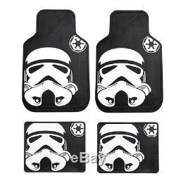 10pc Star Wars Stormtrooper Car Truck Seat Cover Floor Mats Steering Wheel Cover