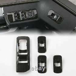 11Interior Steering wheel&Door Handle Cover Trim for Ford F150 Black Wood Grain