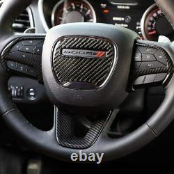 14-21 Dodge Durango Carbon Fiber Molded Steering Wheel Bezel Trim Cover