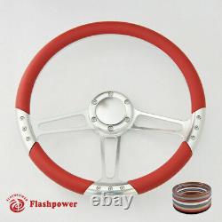 14 Billet Steering Wheel Black Half Wrap Custom Chevy Ididit FlamingRiver