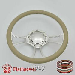 14 Billet Steering Wheel Gray half wrap Chevrolet Monte Carlo Camaro with Horn