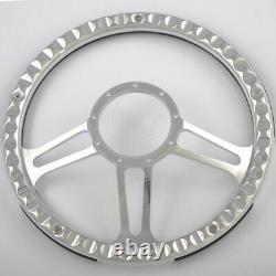 14 Billet Steering Wheel Light Gray Half Wrap GMC Trucks Blazer El Camino Jimmy