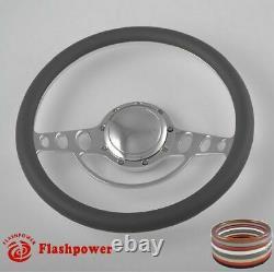 14 Billet Steering Wheels Black Half Wrap Buick Cadillac Pontiac GTO Firebird