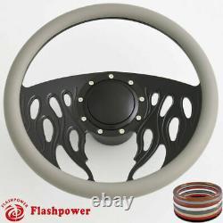 14'' Billet Steering Wheels Black Half Wrap Resto Pontiac GTO Firebird With Horn