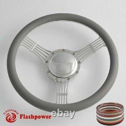 14 Billet Steering Wheels Half Wrap Banjo Wrangler YJ Cherokee Jeep with Horn