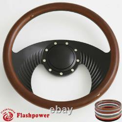 14'' Billet Steering Wheels Half Wrap Street Rod GM Corvair Impala Chevy II Ford