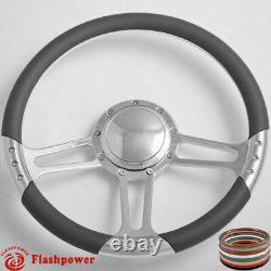 14'' Billet Steering Wheels Tan Color Street Rod Comet Cyclone Marquis Monterey