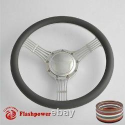 14 Billet Steering Wheels Tan Half Wrap Banjo Wrangler YJ Cherokee Jeep with Horn