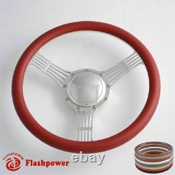 14'' Billet Steering Wheels Wood Banjo Ford GM Corvair Impala Chevy II