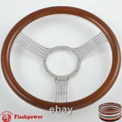 14'' Billet Steering Wheels Wood Banjo Ford GM Corvair Impala Chevy II GTO