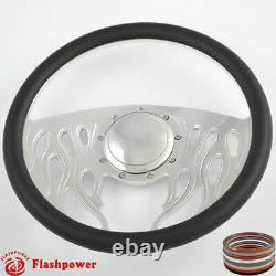 14 Billet Steering Wheels Wood Half Wrap Impala Chevy II GMC Chevelle with Horn