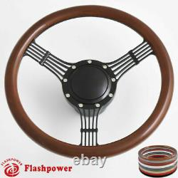 14'' Bonjo Billet Steering Wheels Half Wrap Chevy Nova Chevelle Bel Air GMC GtO