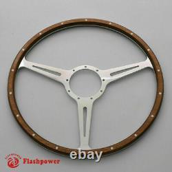 14 Classic Riveted Wood Grain Steering Wheel Restoration MGB Midget