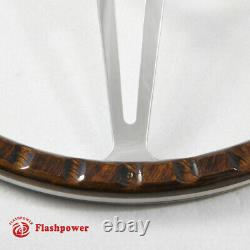 14'' Classic Riveted wooden steering wheel Restoration Mustang Shelby AC Cobra