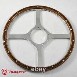 14 Classic Wood Steering Wheel Ford Mustang Shelby AC Cobra Vintage