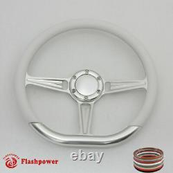 14 D Type Billet steering wheel Black Half Wrap muscle car GMC WithH