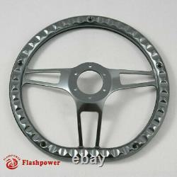 14 Gun Metal Billet Black Steering Wheel Caprice S10 Chevy Blazer WithHorn