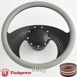 14'' billet steering wheels Black Half Wrap muscle car GTO Firebird Bonneville