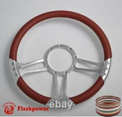14'' billet steering wheels Black half wrap restoration Estate Skylark Buick