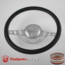 14'' billet steering wheels White half wrap Resto Pontiac GTO Firebird