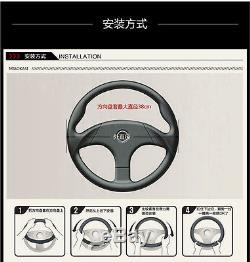 15 38cm Black & Purple Car Auto Steering Wheel Cover Universal fit Comfort Grip