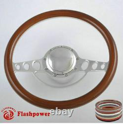 15.5'' Billet Steering Wheels White Half Wrap Mercury Cougar Capri Comet Cyclone
