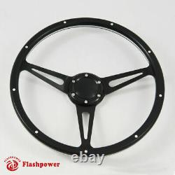 15 Black Forest Wood Steering Wheel Custom Ford Mustang Shelby AC Cobra WithHorn
