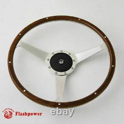 15 Classic wood steering wheel with horn button Restoration Vintage MG GT MGB