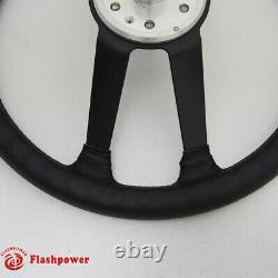 15'' Reproduction VDM Leather steering wheel Restoration Porsche 911 912 914