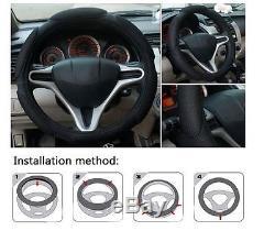 15 inch Car Steering Wheel Cover W Air Freshener Black auto car vehicle truck