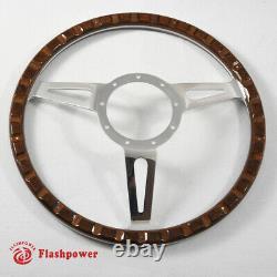 16 Classic Riveted wooden steering wheel Restoration Custom VW Beetle