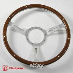 16'' Classic wood grain steering wheel Restoration VW Transporter Karmann Ghia
