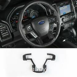 17-21 Ford F250 F350 SD Carbon Fiber Molded Steering Wheel Bezel Trim Cover