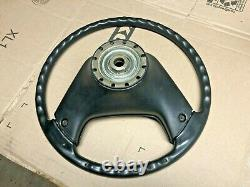 1987-1991 Ford F150 F250 F350 bronco THIN HARD Grip STEERING WHEEL with horn pad