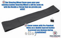 1992 1993 1994 1995 1996 Ford Bronco -Leather Wrap Steering Wheel Cover, Black
