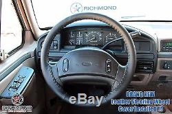 1992-1997 Ford F250 7.3L Power Stroke Turbo Diesel -Leather Steering Wheel Cover
