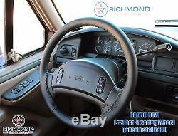 1992-1997 Ford F250 7.3L Power Stroke Turbo Diesel -Leather Steering Wheel Cover