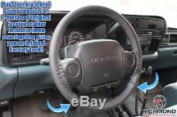 1996 Dodge Ram 1500 2500 3500 Laramie SLT -Black Leather Steering Wheel Cover