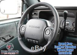 1997 Dodge Ram 1500 2500 3500 ST LT WS -Black Leather Steering Wheel Cover