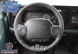 1997 Dodge Ram 5.9L Cummins Turbo Diesel 12V -Black Leather Steering Wheel Cover