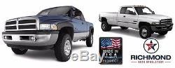 1998-2002 Dodge Ram 1500 2500 3500 -Black Leather Steering Wheel Cover